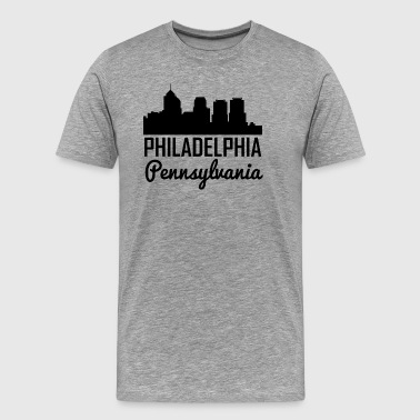 Philadelphia Pennsylvania Skyline - Men's Premium T-Shirt