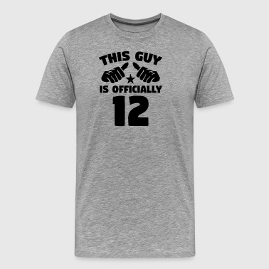 This Guy Is Officially 12 Years Old 12th Birthday - Men's Premium T-Shirt