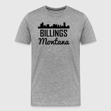 Billings Montana Skyline - Men's Premium T-Shirt