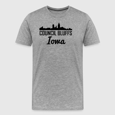 Council Bluffs Iowa Skyline - Men's Premium T-Shirt