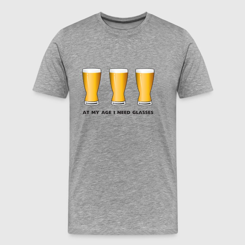 Beer. At my age I need glasses - Men's Premium T-Shirt