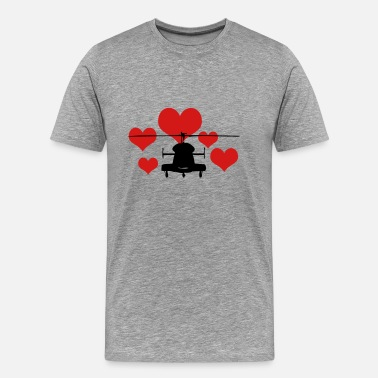 5 Five Heart Heli with 5 hearts - Men's Premium T-Shirt