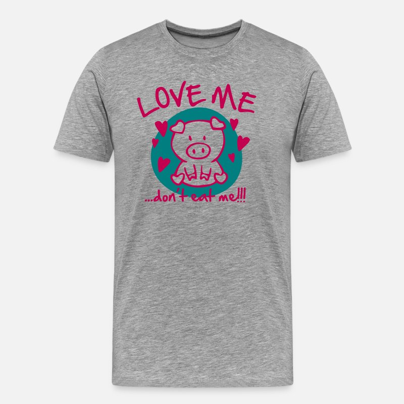 Vegan T-Shirts - Love me, dont eat me - Men's Premium T-Shirt heather gray