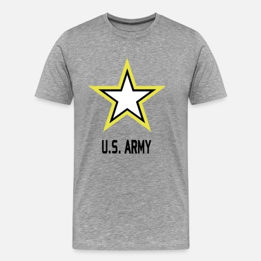 Army Star Military Army Star USA Military in 3 Colors - Men's Premium T-Shirt