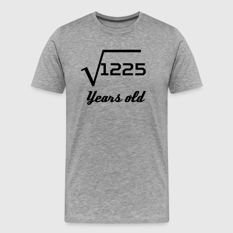 Square Root Of 1225 35 Years Old - Men's Premium T-Shirt