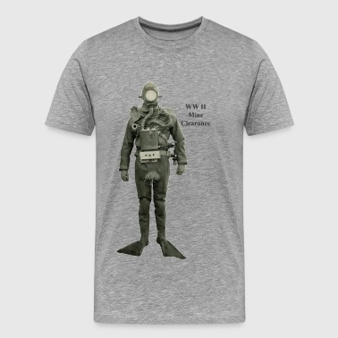 Vintage Mine Clearance World War II Diver - Men's Premium T-Shirt