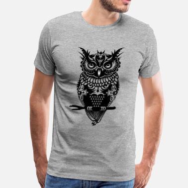 3ff3c852f Owl A dark owl - Men's Premium T-Shirt