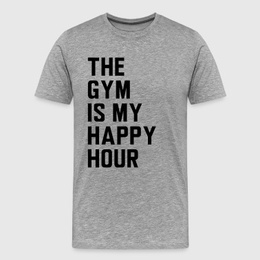 The gym is my happy hour - Men's Premium T-Shirt