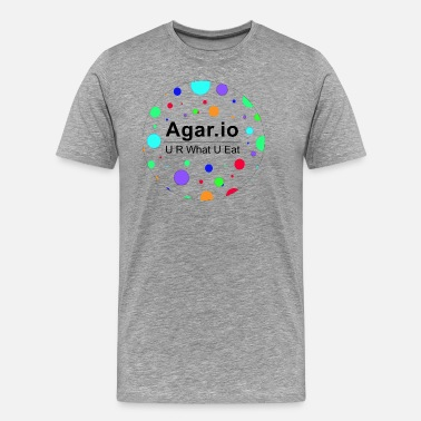 Agario Agario U R WHAT U EAT - Men's Premium T-Shirt