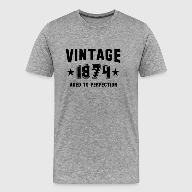 VINTAGE 1974 - Aged To Perfection - Birthday - Men's Premium T-Shirt