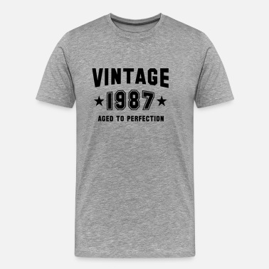 1987 Bday Gift VINTAGE 1987 - Aged To Perfection - Birthday - Men's Premium T-Shirt