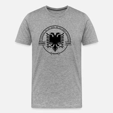 Two-headed Albanian Cities Badge - Men's Premium T-Shirt