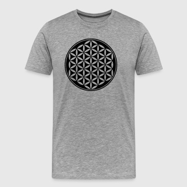 Flower of Life - Vector- Sacred Geometry, energy symbol, healing symbol,  - Men's Premium T-Shirt