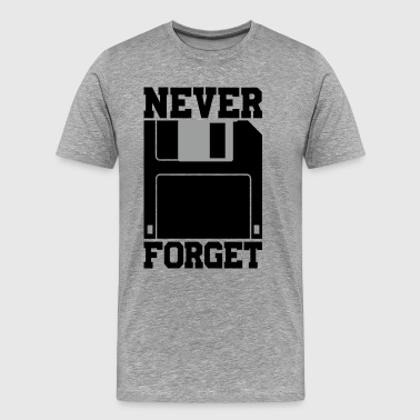 Floppy Disk - Never Forget - Men's Premium T-Shirt