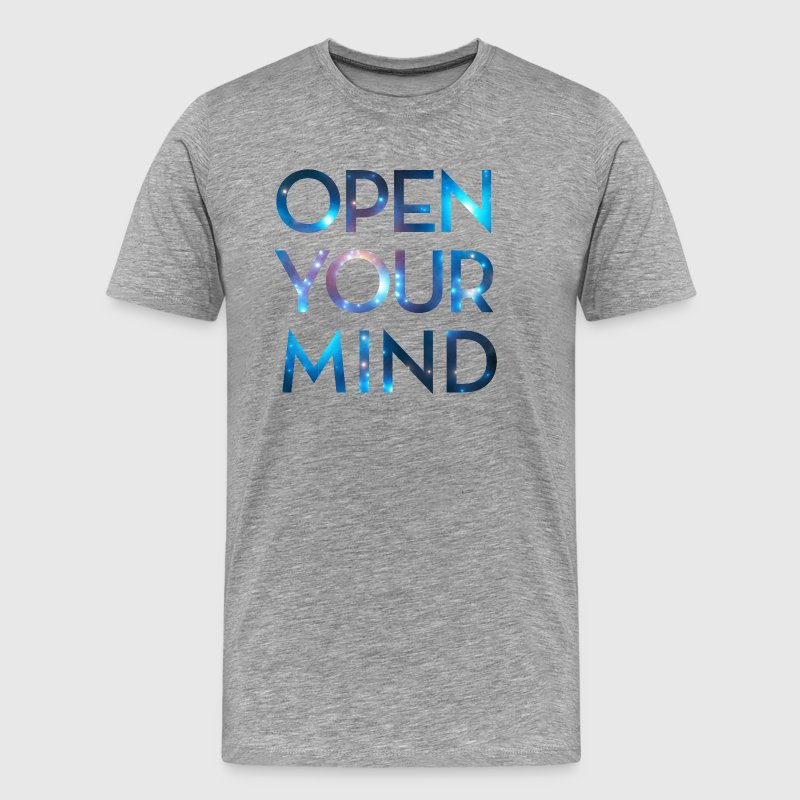 OPEN YOUR MIND, Outer Space, Universe, Galaxy - Men's Premium T-Shirt