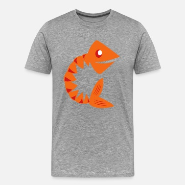 Fish Bone Jokes fish bones - Men's Premium T-Shirt