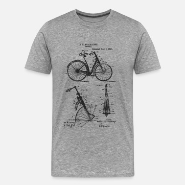 Suspension Bicycle Front Suspension Bike 1890 Blackledge - Men's Premium T-Shirt