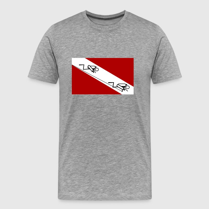 Cave Diving Flag - Men's Premium T-Shirt