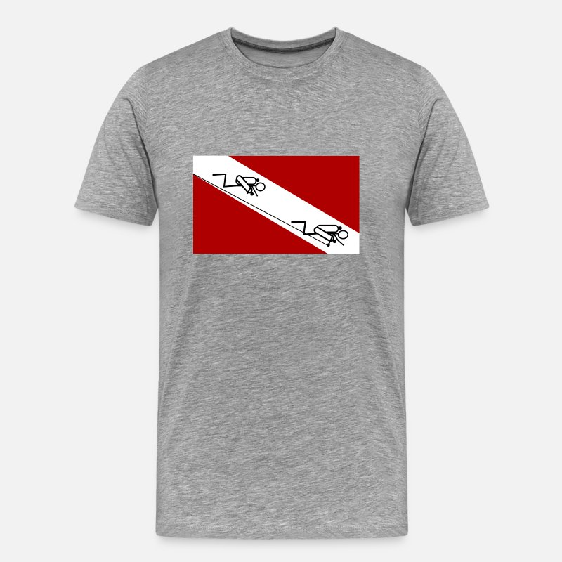 Cave T-Shirts - Cave Diving Flag - Men's Premium T-Shirt heather gray