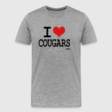 i love cougars by wam - Men's Premium T-Shirt