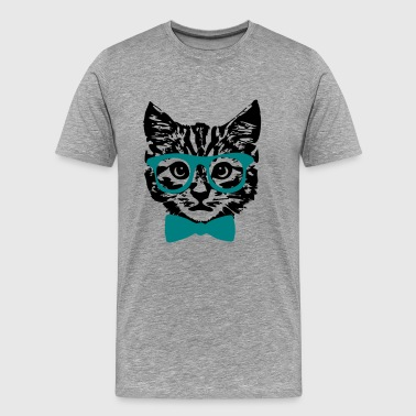Hipster Kitten Hipster Kitten Baby Cat with Glasses  - Men's Premium T-Shirt