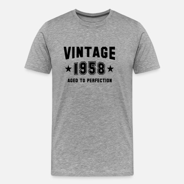 Established 1958 Aged To Perfection VINTAGE 1958 - Aged To Perfection - Birthday - Men's Premium T-Shirt