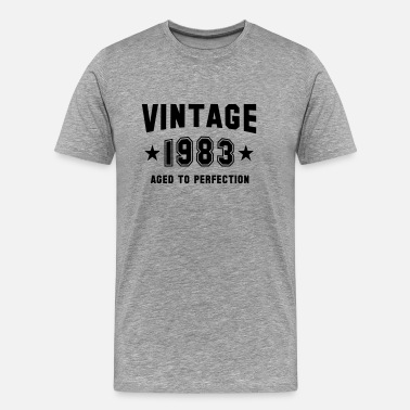 Vintage Matured To Perfection VINTAGE 1983 - Aged To Perfection - Birthday - Men's Premium T-Shirt