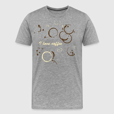 Coffee shirt with coffee stains - Men's Premium T-Shirt