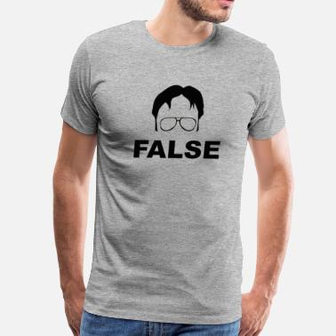 Office Dwight Schrute False - The Office - Men's Premium T-Shirt
