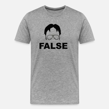 The Office Dwight Schrute False - The Office - Men's Premium T-Shirt