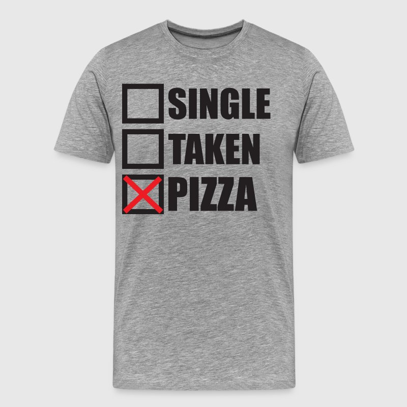 Single, Taken, Pizza - Men's Premium T-Shirt