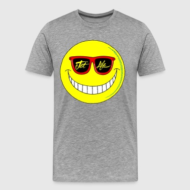 Jet Life Smiley - Men's Premium T-Shirt