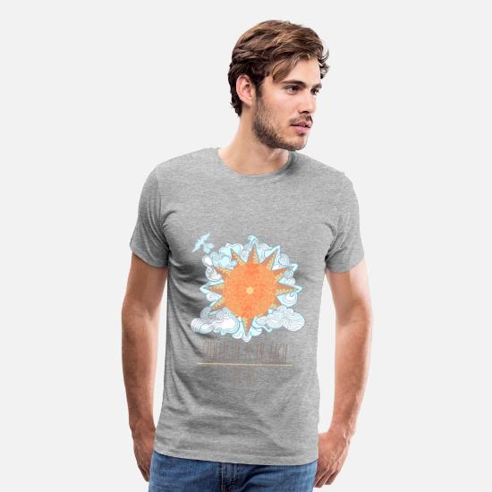 Blue T-Shirts - Sunlight - Men's Premium T-Shirt heather gray
