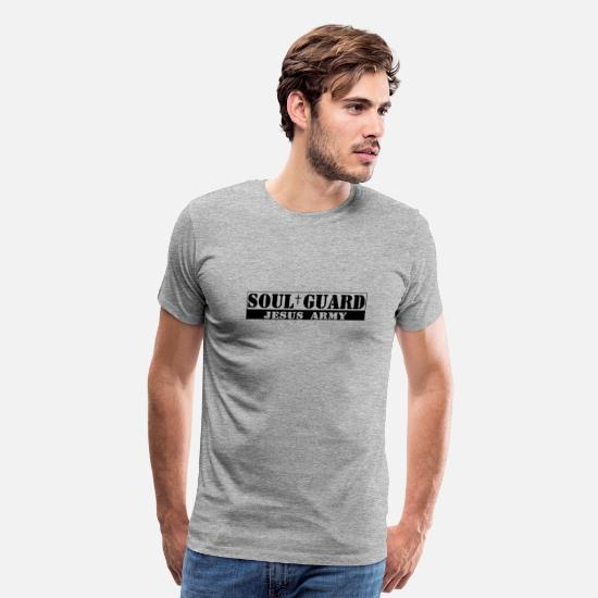 Cristianas T-Shirts - soul_guard_jesus_army - Men's Premium T-Shirt heather gray