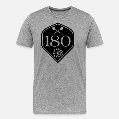 180 Darts 180 Flight - Men's Premium T-Shirt