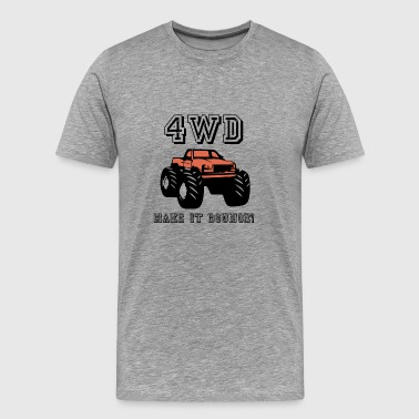 4wd make it bounce - Men's Premium T-Shirt