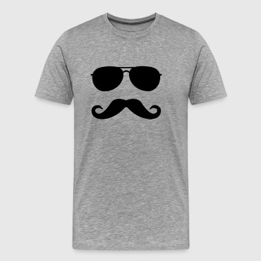 Mustache For Kids mustache and glasses - Men's Premium T-Shirt
