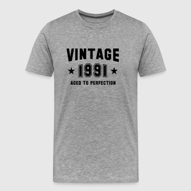 Established 91 VINTAGE 1991 - Aged To Perfection - Birthday - Men's Premium T-Shirt