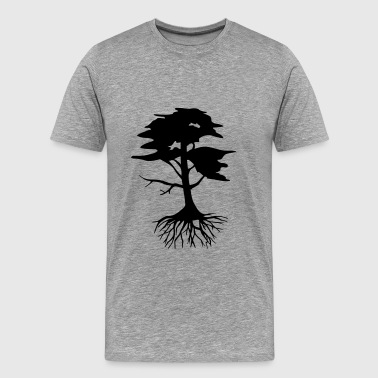 Conservation Tree with roots - Men's Premium T-Shirt