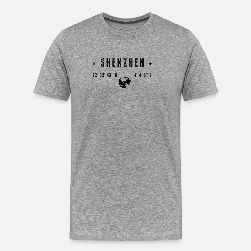 Latitude T-Shirts - Shenzhen - Men's Premium T-Shirt heather gray