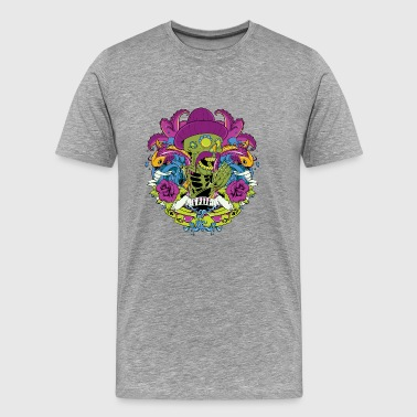 mexican green skull day of the dead faith - Men's Premium T-Shirt