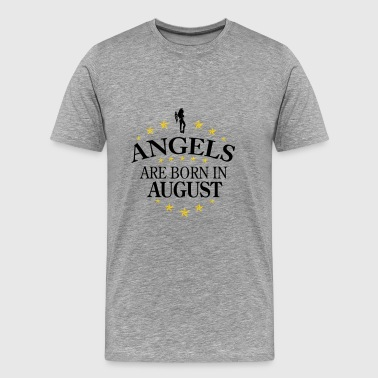 August Birthday August Angel Angels August - Men's Premium T-Shirt