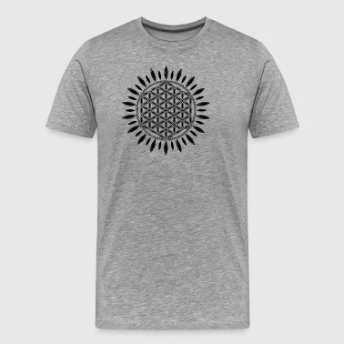 FLOWER OF LIFE SACRED GEOMETRY YOGA SPIRITUALITY - Men's Premium T-Shirt