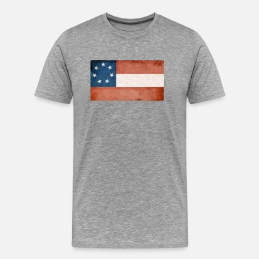 Confederate 7 Flag Art Project2 - Men's Premium T-Shirt