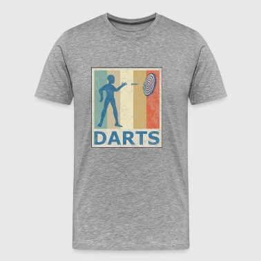 Retro Vintage Style Darts Target Sports - Men's Premium T-Shirt