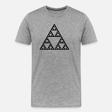 Fractal Geek Sierpinski Fractal Triangles Geometry Mathematics  - Men's Premium T-Shirt
