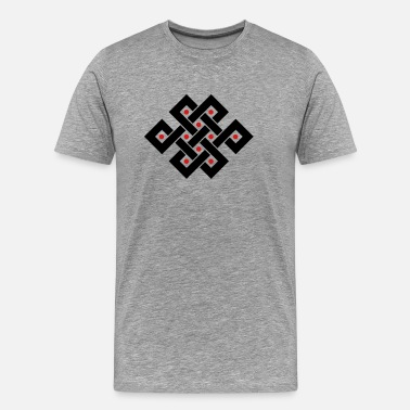 Endless Tibetan endless knot, eternal, infinity, celtic - Men's Premium T-Shirt