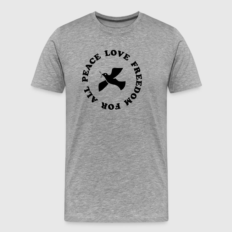 peace love freedom for all - Men's Premium T-Shirt
