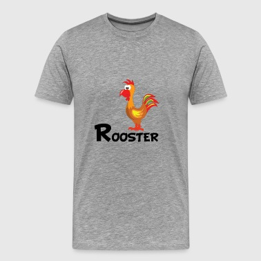 Cartoon Rooster - Men's Premium T-Shirt