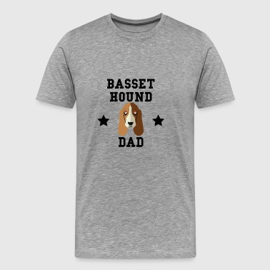 Basset Hound Dad Dog Owner - Men's Premium T-Shirt